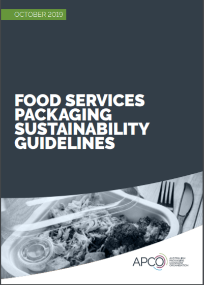 Food services packaging sustainability guidelines