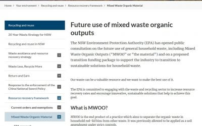 NSW EPA public consultation on the future use of waste