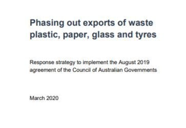 New COAG report on waste bans strategy