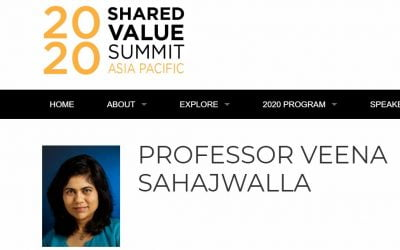 Veena speaking at 2020 Shared Value Summit